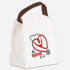 The Doctor Is In Canvas Lunch Bag