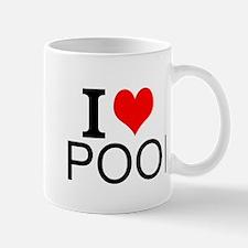 I Love Pool Mugs