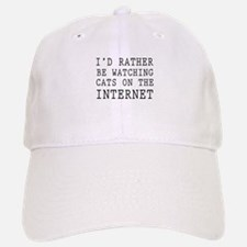 Rather be watching cats online Baseball Baseball Baseball Cap