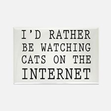Rather be watching cats online Magnets