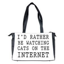 Rather be watching cats online Diaper Bag