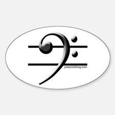 Bass Line Oval Decal