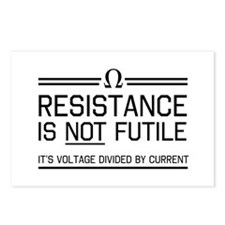 Resistance is not futile Postcards (Package of 8)
