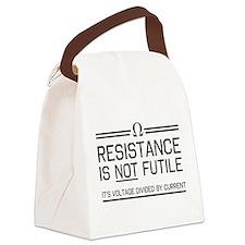 Resistance is not futile Canvas Lunch Bag