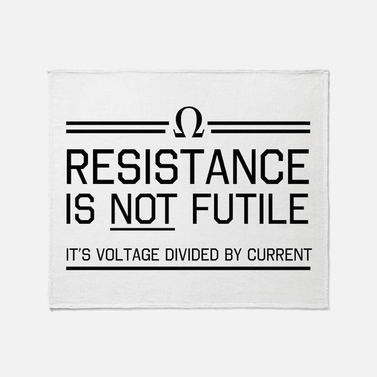 Resistance is not futile Throw Blanket