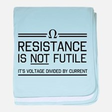 Resistance is not futile baby blanket