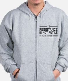 Resistance is not futile Zip Hoodie