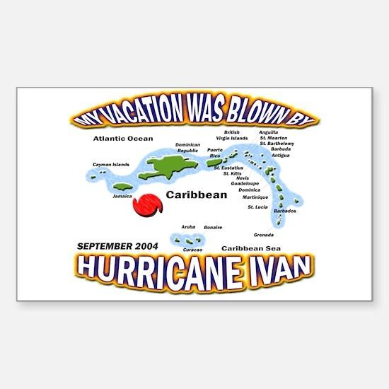 Caribbean Vacation Ivan Sticker (Rect.)