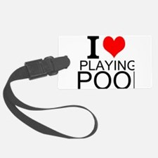 I Love Playing Pool Luggage Tag