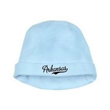 Arkansas Script Black baby hat