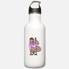 woman teeing ball Water Bottle