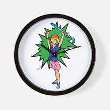 winning golfer girl Wall Clock