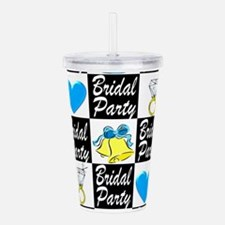 BLUE BRIDAL PARTY Acrylic Double-wall Tumbler