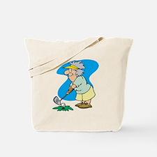 granny golfer Tote Bag