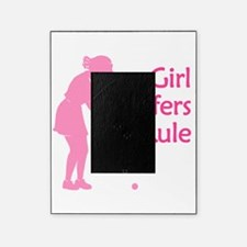 pink girl golfers rule Picture Frame
