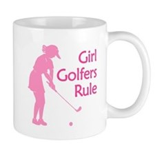 pink girl golfers rule Mugs