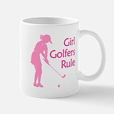 pink girl golfers rule Mugs