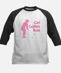 pink girl golfers rule Baseball Jersey