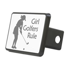 grey girl golfers rule Hitch Cover
