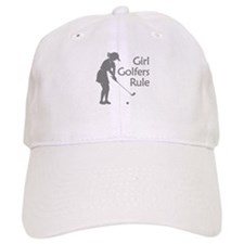 grey girl golfers rule Baseball Baseball Cap