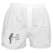 grey girl golfers rule Boxer Shorts