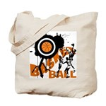 Grunge Basketball Tote Bag