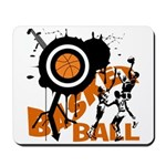 Grunge Basketball Mousepad
