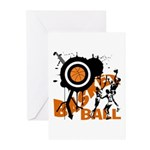 Grunge Basketball Greeting Cards (Pk of 10)
