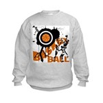 Grunge Basketball Kids Sweatshirt
