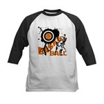 Grunge Basketball Kids Baseball Jersey