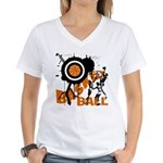 Grunge Basketball Women's V-Neck T-Shirt