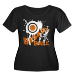 Grunge Basketball Women's Plus Size Scoop Neck Dar