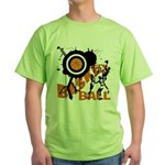 Grunge Basketball Green T-Shirt
