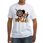Grunge Basketball Fitted T-Shirt