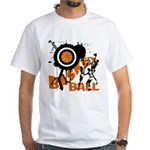 Grunge Basketball White T-Shirt