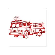 Red Fire Truck Sticker
