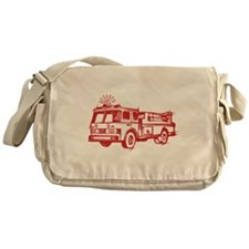 Red Fire Truck Messenger Bag