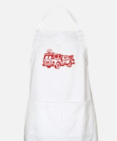 Red Fire Truck Apron