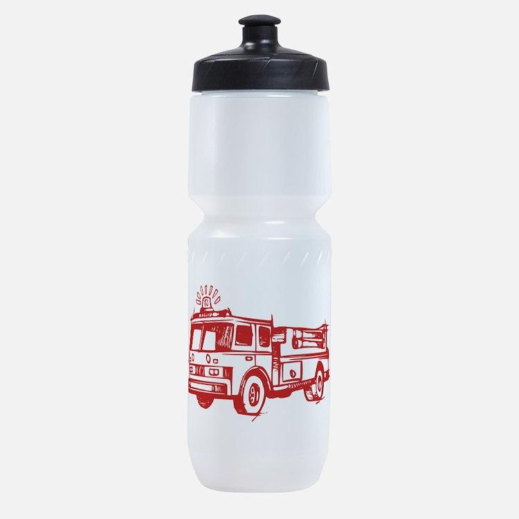 Red Fire Truck Sports Bottle