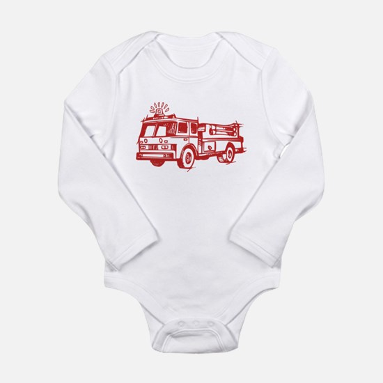 Red Fire Truck Body Suit