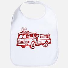 Red Fire Truck Bib