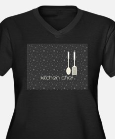 Hobby Kitchen Chef Logo Black Dots Plus Size T-Shi
