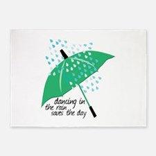 Dancing In The Rain Saves The Day 5'x7'Area Rug