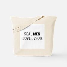 Real Men Love Jesus Tote Bag