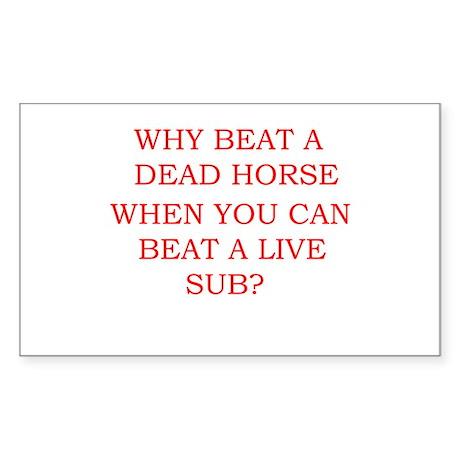 Dead Horse Rectangle Sticker