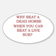 Dead Horse Oval Decal