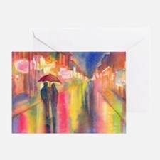 Funny Rain umbrella Greeting Card