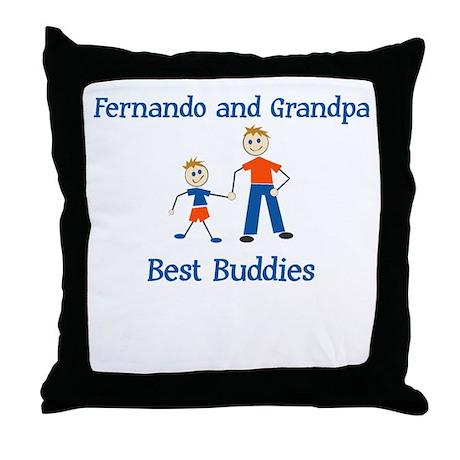 Fernando & Grandpa - Best Bud Throw Pillow