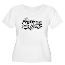 Fire Truck Plus Size T-Shirt