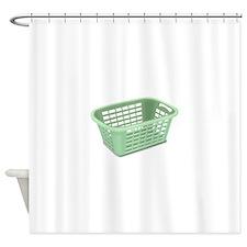 Laundry Basket Shower Curtain